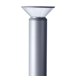 OD-7123 Prismatic indirect light bollard 25 watt Schwarz