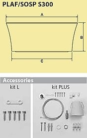 Kit Plus Accessories für Pendelleuchte und Klokarmatur ø 300mm.